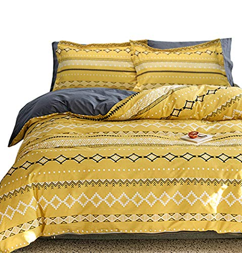 Essina Microfiber Full/Queen Duvet Cover Set 3pc Arcadia Collection, Soft and Lightweight, Bohemia
