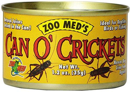 Zoo Med Can O\' Crickets 35g, Pack Futterinsekten, Grillen für Reptilien und Amphibien