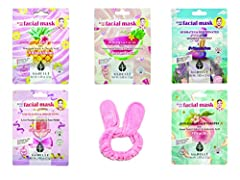 KOREAN FACE MASK FOR SENSITIVE SKIN These sheet masks are made with soothing ingredients like collagen and avocado that hydrate and nourish your skin. SKIN CARE FOR YOU: We all want to get rid of fine lines, wrinkles, pores, acne. These Face Mask She...