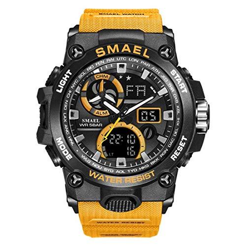 SMAEL Women Men Unisex Reloj De Pulsera Sporty-Military Plastic Quartz Analogous-Digital SL-8011