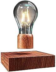 VGAzer Zwevende led-tafellamp met touch-knop, magnetisch, in fraaie houtlook, draadloze led-gloeilamp, decoratieve lamp met magneettechnologie, cadeau-ideeën, nachtlampje voor kamerdecoratie, woondecoratie