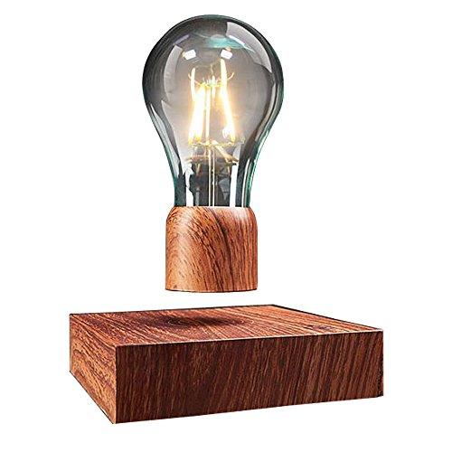 VGAzer Lampe de bureaumagnétique à lévitation sans fil Ampoule LED Cadeaux uniques, décoration de chambre, lumière de nuit, décoration de bureau à la maison, jouets de technologie