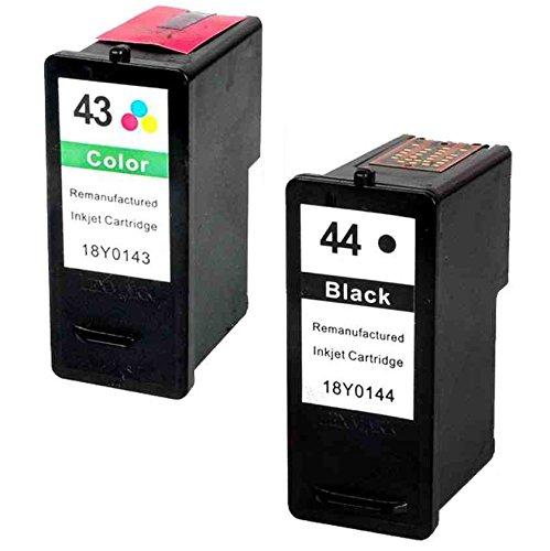 Prestige Cartridge 2 XL Compatibles 44 43 Cartuchos de Tinta para Lexmark X4800 X4850 X4875 X4950 X4975 X4975ve X6570 X6575 X7550 X7675 X9350 X9575 P350 Z1520 | Alta Capacidad