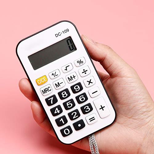 XBAO rekenmachine met 8-cijferig display, comfortabele toetsen, draagbaar, procent, knoopcel, rekenmachine draagbaar
