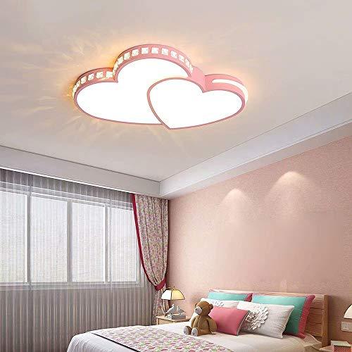 Lámpara de techo LED de cristal en forma de corazón, candelabro de acrílico romántico de corazón a corazón, accesorio de iluminación de techo, montaje empotrado, luz colgante,atenuación continua