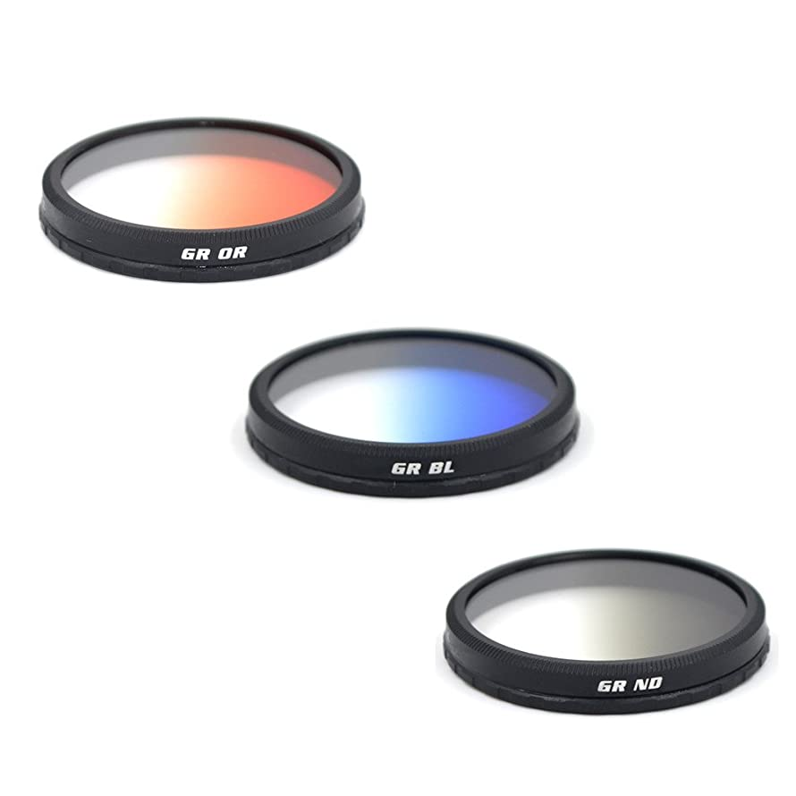 Green.L 16-Layer Multi-Coated Graduated Grey Filter+Orange Filter +Blue Filter for DJI OSMO Inspire 1 ztbcofk8687581