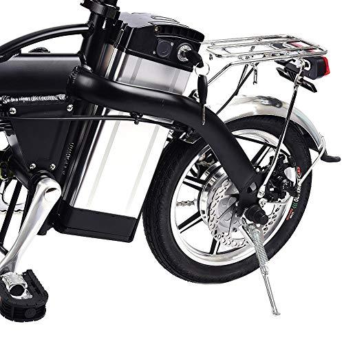 awhao-123 Bicicleta de Ciclo del Motor de Alta Velocidad de la Bicicleta eléctrica Negra 350w, batería de Litio 48V / 10AH