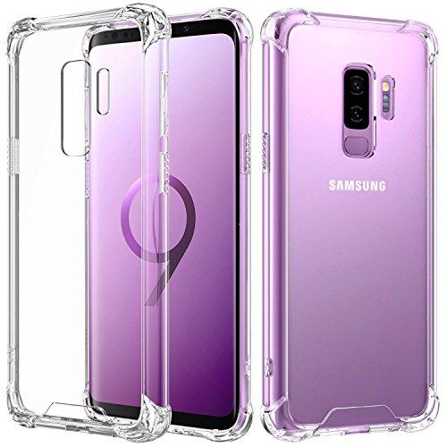 AVANA Galaxy S9 Plus Hülle Durchsichtige Schutzhülle Case TPU Schale Cover Kratzfest Handyhülle Klar Bumper Kantenschutz für Samsung Galaxy S9+ Transparent