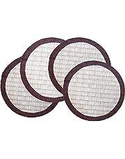 心春(KOHARU) い草 座卓敷き 4枚組 約16×16cm×10mm 丸形 畳材店プロデュース 天然い草 抗菌 床のへこみ 傷防止に最適