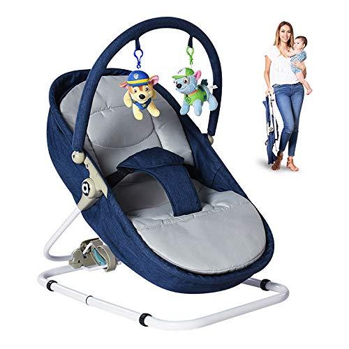 Baby schommel stoel, kunnen peuter zitten op liggende schommelstoel gemakkelijk te reinigen geschikt voor baby's 0-18 maanden op te vouwen