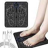 Elektrisches Fußmassagegerät, Perphin USB EMS Fußmassagegerät EMS Leg Reshaping Foot Massager, 6 Modi,9 Einstellbare Frequenzen, Muskelschmerzen reduzieren, fördert die Durchblutung Für Hause Büro