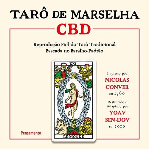 Tarô de Marselha CBD: Reprodução fiel do Tarô tradicional baseada no baralho-padrão.