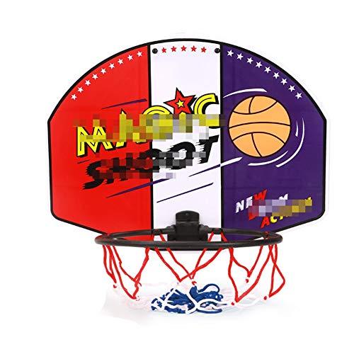 MHCYKJ Aro De Baloncesto Interior Puerta Juego Montado En La Pared para Niños Tablero Basquetbol con Bola Y Bomba Pelota Juguete Deportivo
