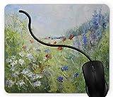 Mauspad Sommerterrassen-Tor mit bunten Blumen in einem Gartenhaus in Griechenland Rutschfeste Gummi Basis Mouse pad, Gaming mauspad für Laptop, Computer 1X490