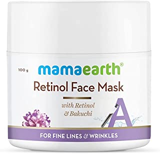Mamaearth Retinol Face Mask for Glowing Skin, Anti Aging, with Retinol and Bakuchi for Fine Lines & Wrinkles - 100 g