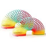 THE TWIDDLERS - 2 Grandes Muelles Gigantes (Slinky) de Colores Vibrantes - Regalos de Cumpleaños y Recompensas para Niños / Premios de Clase/ Relleno Piñata