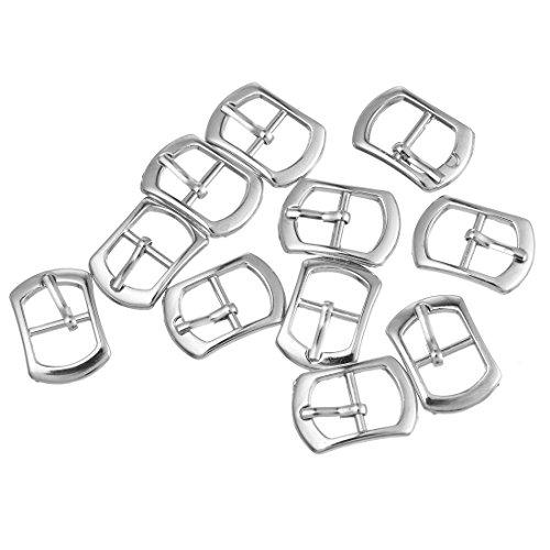 Rainbabe Silber Ton Farbe Metall Schuh Schnalle Zubehör Kurzwaren Verzierung Ergebnisse 30 Stück (Silber)