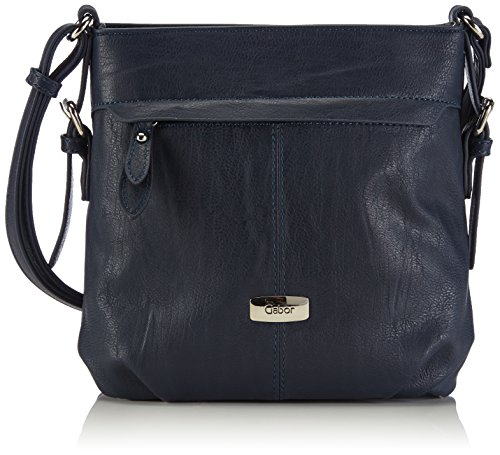 Gabor Umhängetasche Damen Lisa, (blau 50), 23x24x10 cm, Gabor Handtasche Damen