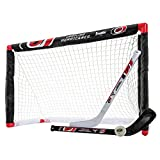 Franklin Sports Carolina Hurricanes Mini Hockey Set - Knee Hockey Goal, Ball, & 2 Hockey Stick Combo Set - Mini Goal Net - NHL Official Hockey Set