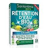 Santarome Bio - Rétention d'Eau Bio   Complément Alimentaire Draineur, Détoxifiant et soutient de la Circulation   15 Comprimés