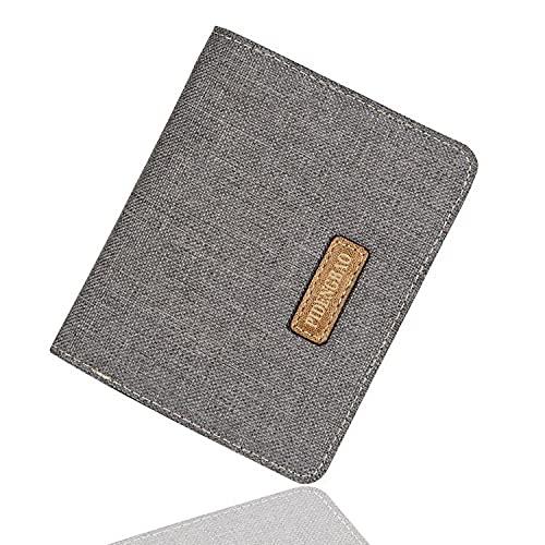 Portafoglio in tela Portafoglio per studenti corto ultrasottile da uomo coreano Portafoglio moda Portafoglio in stile verticale grigio