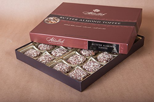 Abdallah Chocolates Butter Almond Toffee 13 oz