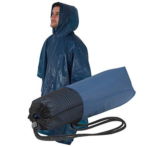 Poncho de pluie/avec sacs pratiques/Couleur : Bleu foncé
