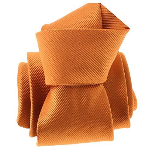 Clj Charles Le Jeune. Cravate. Monochrome, Microfibre. Orange, Uni.