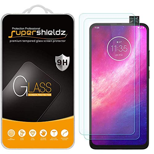 (2 Pack) Supershieldz for Motorola One Hyper Tempered Glass Screen Protector, 0.33mm, Anti Scratch, Bubble Free