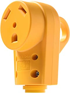 MICTUNING 125V 30Amp Heavy Duty RV Female Replacement Receptacle Plug with Ergonomic Grip Handle Yellow