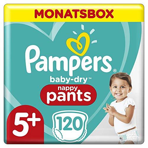 Pampers Baby-Dry Pants, Gr. 5+, 12kg-17kg, Monatsbox (1 x 120 Pants)