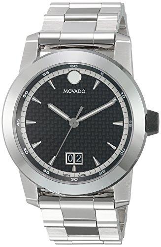 Movado Casual Reloj de Acero Inoxidable de los Hombres de Cuarzo Suizo, Color: Silver-Toned (Modelo: 0607050)