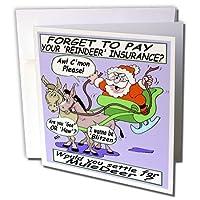 リッチDiesslins Cartoon日のクリスマスTCDC–Iraモンロー–サンタとMule Deer–グリーティングカード Set of 12 Greeting Cards
