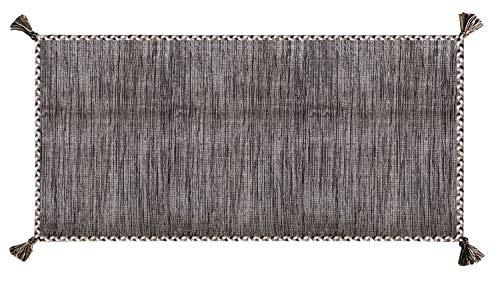 Confezioni.Giuliana Tappeto Kilim Nepal Marrone Puro Cotone Classico passatoia Soggiorno Camera Salotto (60x200)
