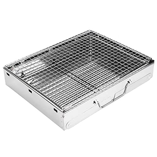 Grill, tragbarer Holzkohle-Camping-Grill...
