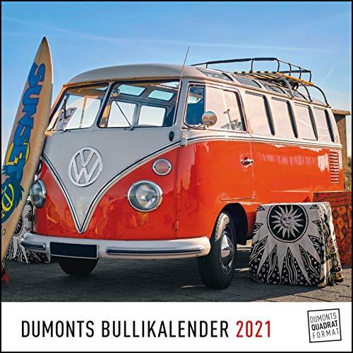 DUMONTS Bulli-Kalender 2021 - VW-Bus, Oldtimer, Retro - 24 x 24 cm im Quadratformat