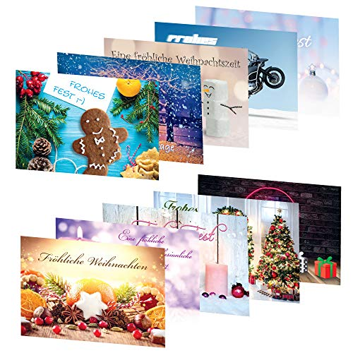 PRICARO - Cartoline natalizie, motivo 1, A6, 20 pezzi