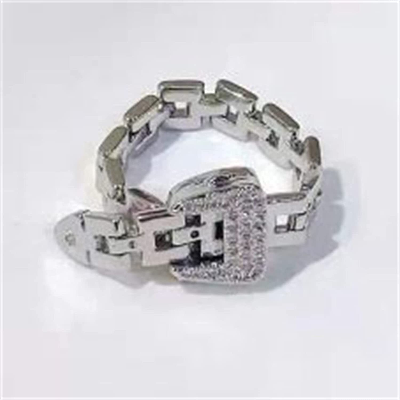 LASULEN Tulsa Mall Fashionable Adjustable Popular brand Sterling Masonry Strap Silver Buc