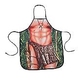 Grembiule sexy da uomo, simpatico grembiule da cucina, per barbecue, divertente costume da uomo, regalo di Natale, HSW-082-US (9 #)