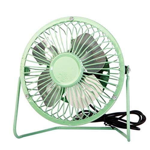 Mini-ventilator, USB, draagbaar, metaal, voor op het bureau, stil, voor de zomer, gebruik op kantoor, voor laptop, plug & play Nominal 4, Blue