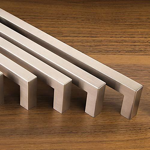 10er Set SO-TECH® Möbelgriffe E8 echt Edelstahl BA 128 mm Schrankgriffe