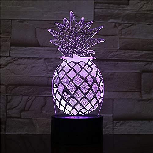 Ananas nachtlampje usb touch sensor Rbg nieuwigheid verlichting kind kind baby cadeau gadget fruit tafel 3D LED-lamp