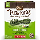 Merrick Fresh Kisses Coconut + Botanical Oils Dental Dog Treats - 22 ct....