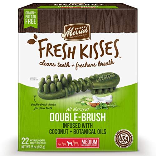 Merrick Fresh Kisses Medium Oral Care Dental Dog Treats for Dogs 25-50...