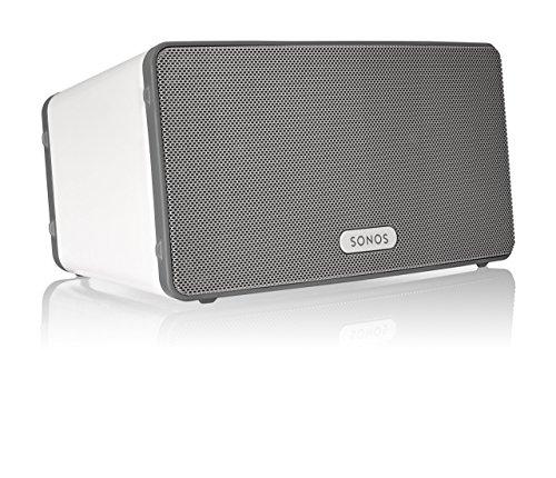 Sonos Play:3 All-in-one-Player (3-Wege-Lautsprechersystem, kabellose Steuerung) weiß - UK-Import inklusive Steckdosenadapter