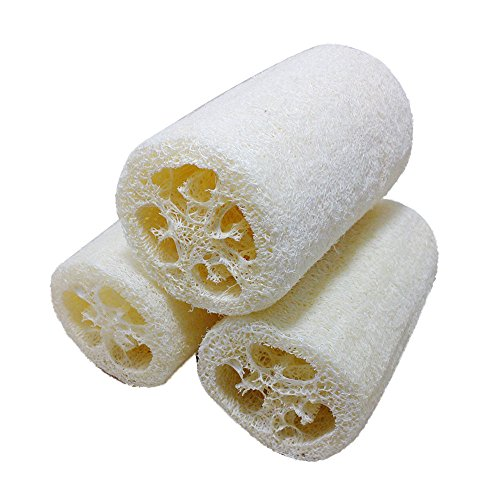 Quelife New Natural Loofah Bath Body Shower Sponge Scrubber Pad Hot