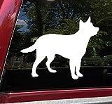 Minglewood Trading Black - Cattle Dog Vinyl Decal - Puppy Australian Red Blue Heeler ACD - Die Cut Sticker - 5w x 4h inches