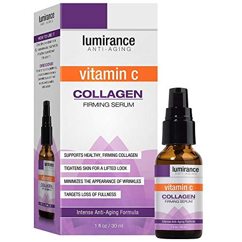 Vitamin C & Collagen Face Firming Serum, Tightens Skin for Lifted Look for All Skin Types, Promotes skin health, helps with signs of aging, helps skin look plump and lifted- 1oz / 30ml, by Lumirance