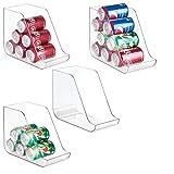mDesign Juego de 4 cajas organizadoras para la cocina - Contenedores de plástico ideales...