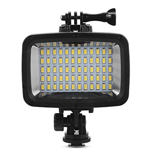 Tauch-Licht , XIEHAIGE 40 Meter wasserdichtes hohes Leistungs POV Flash-Fill Licht, 12W 20 LEDs 1800LM für GoPro Hero 3/3+/4/5 Sport-Kameras DSLR